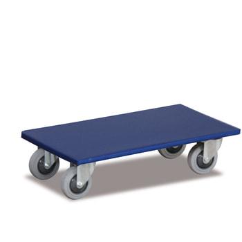 Möbelroller - 2 Stück - 145 x 350 x 600 mm (HxBxT) - Traglast 350 kg - Thermo-Gummireifen