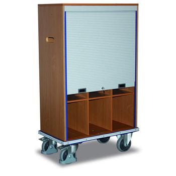 Aktenwagen mit 9 Fächern - 400 kg Traglast - abschließbar
