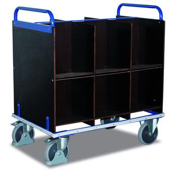 Aktenwagen mit 12 Fächern - 400 kg Traglast - wasserfest verleimtes Sperrholz