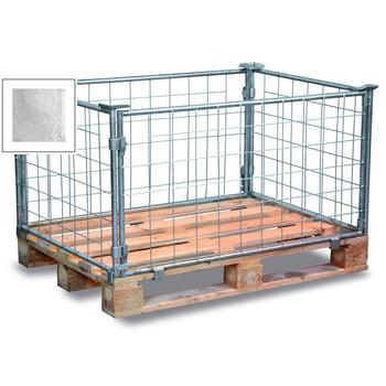 Palettenaufsatzrahmen für Europalette - 1.500 kg - Höhe 600 mm - 4-fach stapelbar - Gitter - verzinkt