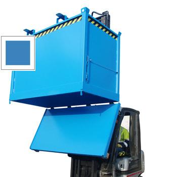 Klappbodenbehälter - 1.000 l Volumen - 1.250 kg - kranbar - lichtblau