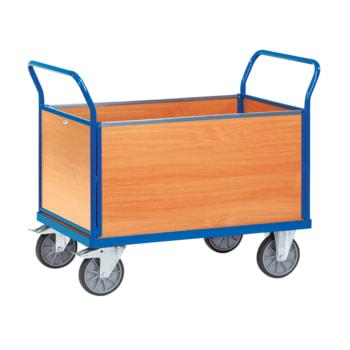 Fetra - Vierwandwagen - 500 kg Traglast - 948 x 509 x 1.030 mm (HxBxT) - Holzwände