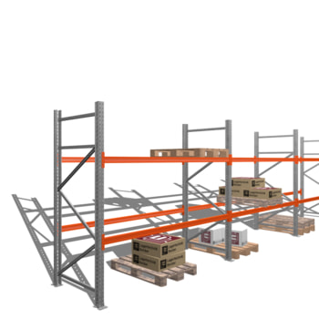 Palettenregal - 3 t - 2,5 x 8,5 x 1,1 m - 3 Felder - Schwerlastregal Hochregal