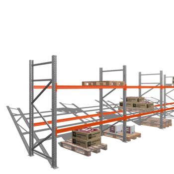 Palettenregal - 3 t - 2,5 x 11,3 x 1,1 m - 4 Felder - Schwerlastregal Hochregal