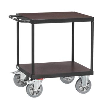 Beispielabbildung Tischwagen: hier in der Ausführung mit 2 Etagen, Ladefläche 700 x 700 mm