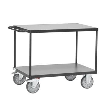 Tischwagen mit 2 Etagen, Ladefläche 700 x 1.000 mm