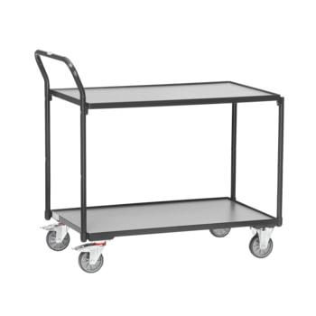 Beispielabbildung Tischwagen: hier in der Ausführung mit 2 Etagen, Ladefläche 600 x 1.000 mm