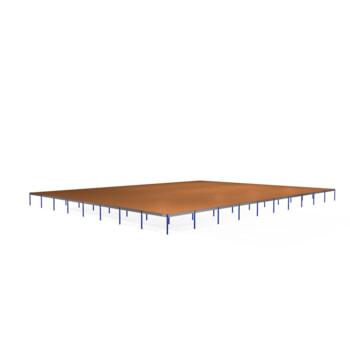 Lagerbühne - 2.500 x 40.000 x 50.000 mm (HxBxT) - 250 kg/qm - mit Böden - Graphitgrau (RAL 7024)