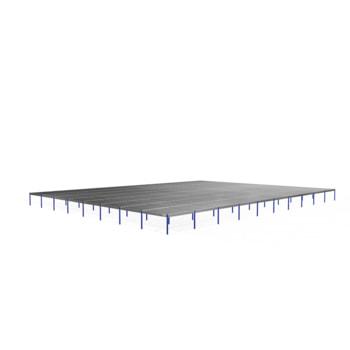 Lagerbühne - 2.500 x 40.000 x 50.000 mm (HxBxT) - 250 kg/qm - ohne Böden - Graphitgrau (RAL 7024)