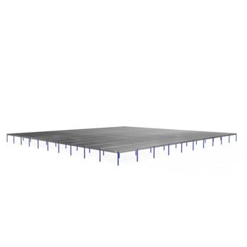 Lagerbühne - 2.800 x 50.000 x 50.000 mm (HxBxT) - 500 kg/qm - ohne Böden - Graphitgrau (RAL 7024)
