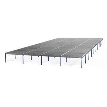 Lagerbühne - 2.500 x 20.000 x 50.000 mm (HxBxT) - 250 kg/qm - ohne Böden - feuerrot (RAL 3000)