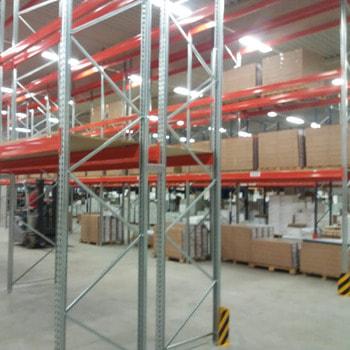 Gebrauchtes Palettenregal - ca. 3.500 x 11.300 x 1.100 mm - Schwerlastregal Regal 3 Tonnen
