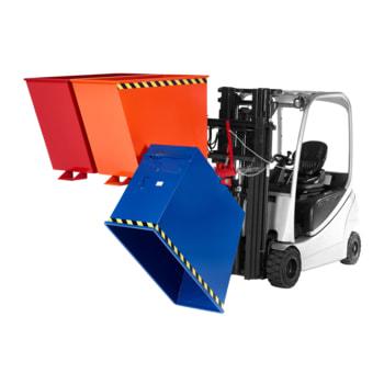 Dreifach-Muldenkipper - Traglast 1.500 kg - 1.010 x 1.850 x 1.560 mm (HxBxT) - rot/orange/blau