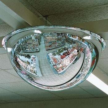 Abbildung zeigt Halbkugelspiegel 360 Grad mit 800 mm Durchmesser