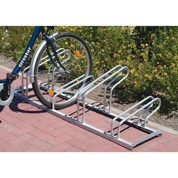 Beispielabbildung zeigt einseitigen Fahrradständer für 4 Fahrräder. Das Fahrrad ist nicht im Lieferumfang enthalten.