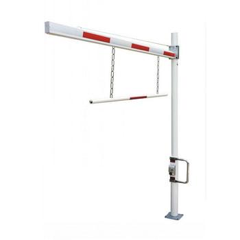 Abbildung zeigt Höhenbegrenzung in 3 m Sperrbreite - Barrierenabhängung auf Anfrage gegen Aufpreis erhältlich