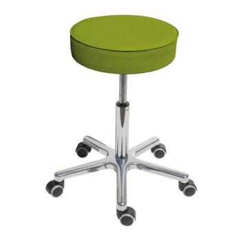 Drehhocker mit beweglicher Sitzfläche, smaragdgrün, mit Rollen