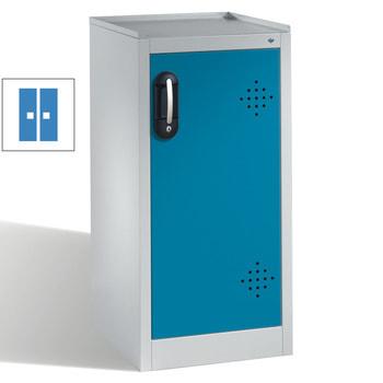 Abbildung zeigt Umweltschrank mit der Frontfarbe Lichtblau (RAL 5012)