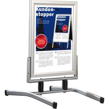 Kundenstopper DIN A1, wasserfest, windfest, standfest, Werbetafel, Plakatständer, Aufsteller, 1.150 x 730 x 1.050 mm (HxBxT), Aluminium