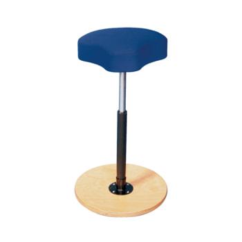 Ergonomischer Hocker mit atollblauem Sitz