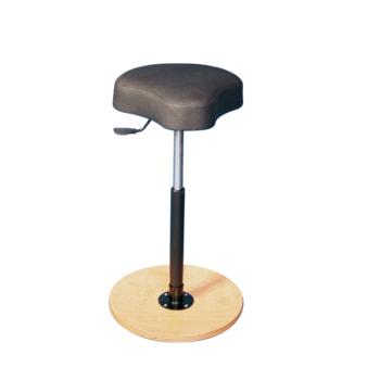 Ergonomischer Hocker mit schwarzem Sitz