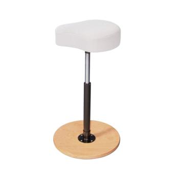 Ergonomischer Hocker mit weißem Sitz