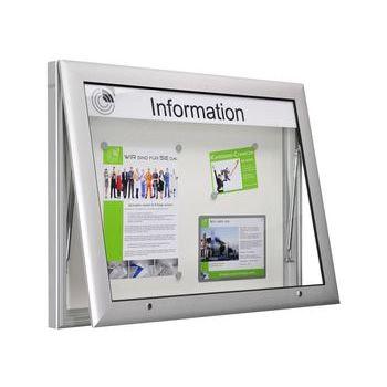 XXL Aluminium Schaukasten, Schaufenster, Auslage, Werbekasten - Übergröße, Querformat, Magnet Rückwand in anthrazit, 1.025 x 2.000 x 80 mm (HxBxT)