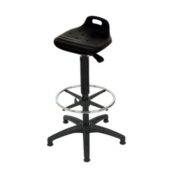 Hocker/Stehhilfe, mit Fußring, Kunststoff Fußkreuz