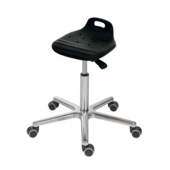 Hocker/Stehhilfe, Aluminium Fußkreuz mit Rollen