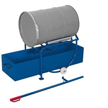 Fasskipper für 200 l Fässer - 250 kg Traglast - Fassauflage und Auffangwanne - inkl. Hebestange