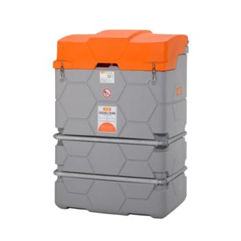Mobile Diesel Tankanlage mit Klappdeckel - 1.000 l Volumen