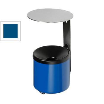 Wandascher mit Dach - Volumen 0,6 l - 220 x 90 x 120 mm (HxBxT) - enzianblau