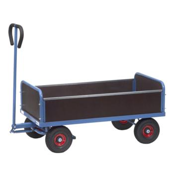 Handwagen - Traglast 500 kg - 1.192 x 709 x 1.472 mm - Vier Wände, Seiten steckbar