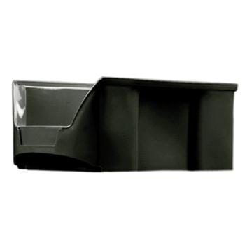 ESD Sichtlagerkästen, Sortierkästen, stapelbar, elektronisch leitfäig (PP), Größe 4, 75 x 100 x 175 mm (HxBxT), VE 25 Stück