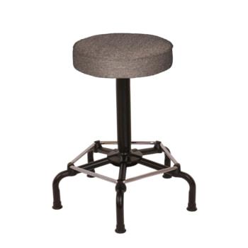 Arbeitshocker mit Fußstütze - Polster - Sitzhöhe 640 - 840 mm - Drehspindel - mit Gleitern