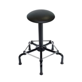 Arbeitshocker mit Fußstütze - Kunstleder - Sitzhöhe 640 - 840 mm - Drehspindel - mit Gleitern