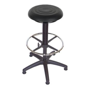 Hocker, Stehhilfe mit Fußring - Sitzhöhe 550 - 810 mm - PU Schaum - Kunststoff Fußkreuz mit Gleitern