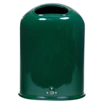 Beispielabbildung ovaler Abfallbehälter, hier in RAL 6005 moosgrün