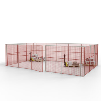 Die angebotene Konfiguration der Gittertrennwand.