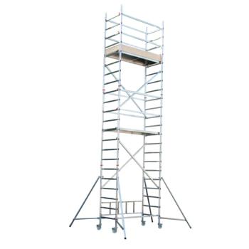 Fahrgerüst - Aufbaukombination mit Ausleger - Höhe 6.710 mm - Reichhöhe 7.650 mm