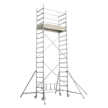 Fahrgerüst - Aufbaukombination mit Ausleger - Höhe 4.850 mm - Reichhöhe 5.650 mm