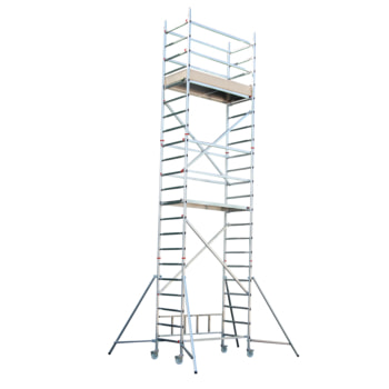 Fahrgerüst - Aufbaukombination mit Ausleger - Höhe 6.350 mm - Reichhöhe 7.150 mm