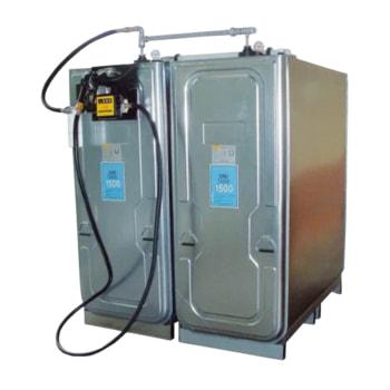 Beispielabbildung Dieseltankanlage: hier in der Ausführung mit 2 x 1.500 l Tanks