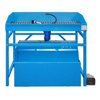 Teilereiniger - Teilewaschgerät - Auffangwanne - 1 x 200 l Fass Purgasol - Traglast 250 kg - Arbeitshöhe 870 mm