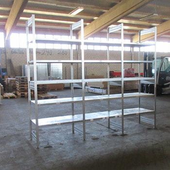 Steckregal - 2.450 x 6.000 x 600 mm - 30 Fachböden - Regal - Fachbodenregal - Bito