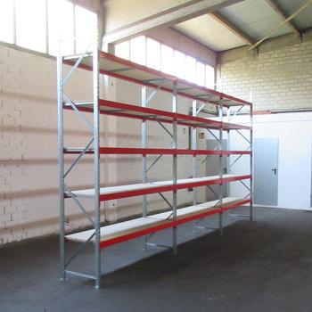 Weitspannregal m. Holzeinlage - 500 kg - (HxBxT) ca. 3.000 x 5.800 x 600 mm