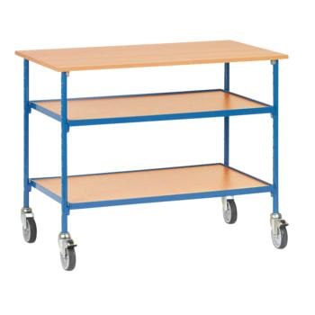Fetra Rolltisch mit 2 Böden - Tragkraft 150 kg - 910 x 650 x 1.120 mm (HxBxT)