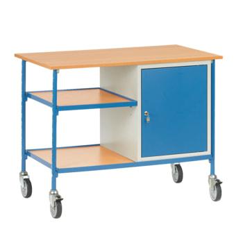 Fetra Rolltisch mit Schrank und fachboden - Tragkraft 150 kg - 910 x 650 x 1.120 mm (HxBxT)