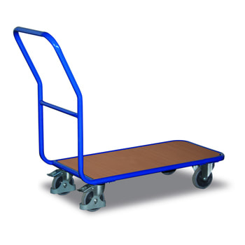 Magazinwagen - Traglast 200 kg - Ladefläche aus MDF-Platte - enzianblau - Ladefläche wählbar
