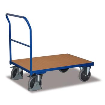 Plattform-Transportwagen - Basis-Schiebebügelwagen - enzianblau - Ladefläche wählbar